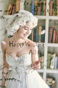 四季の丘メッセージボード花嫁